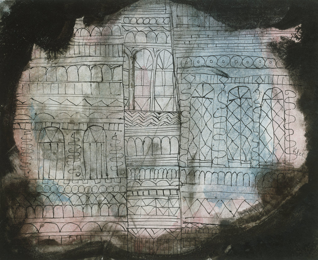 Detail of Castle Burning by Paul Klee