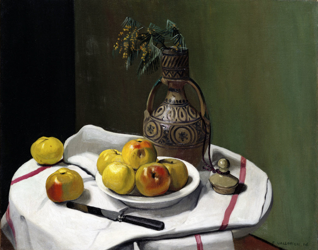 Detail of Apples and a Moroccan Vase by Felix Vallotton