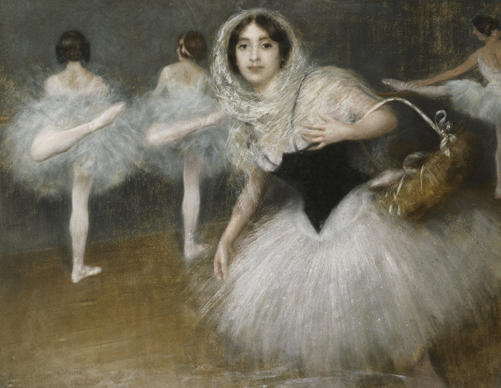 Detail of The Dancers by Pierre Carrier-Belleuse
