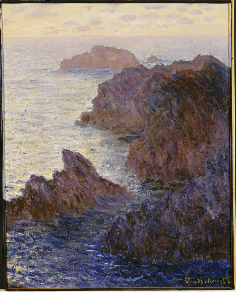 Detail of Rocky Point at Port-Goulphar by Claude Monet