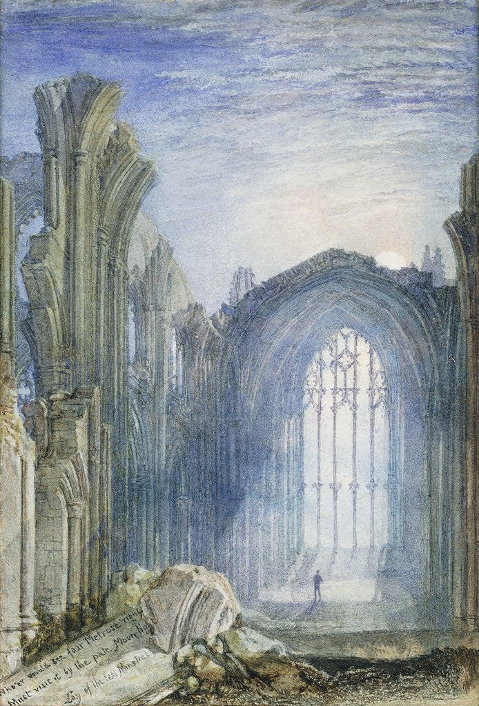 Detail of Melrose Abbey by Joseph Mallord William Turner