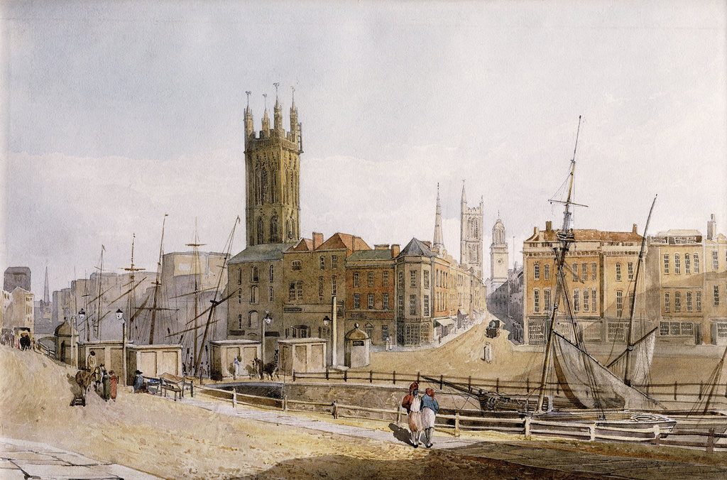 Detail of Draw Bridge from St. Augustine's Bank, Bristol by James Johnson