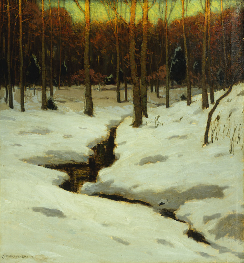 Detail of Winter Woods by Charles Warren Eaton