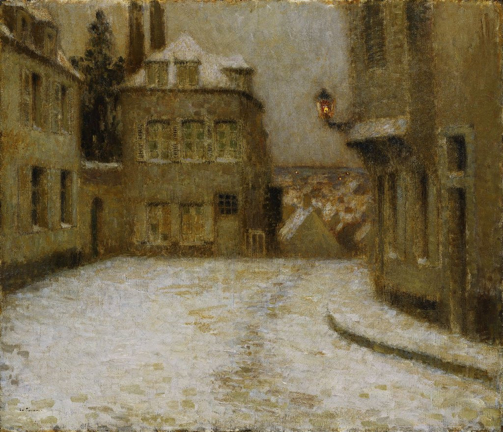 Detail of Snow, Montmartre by Henri Le Sidaner