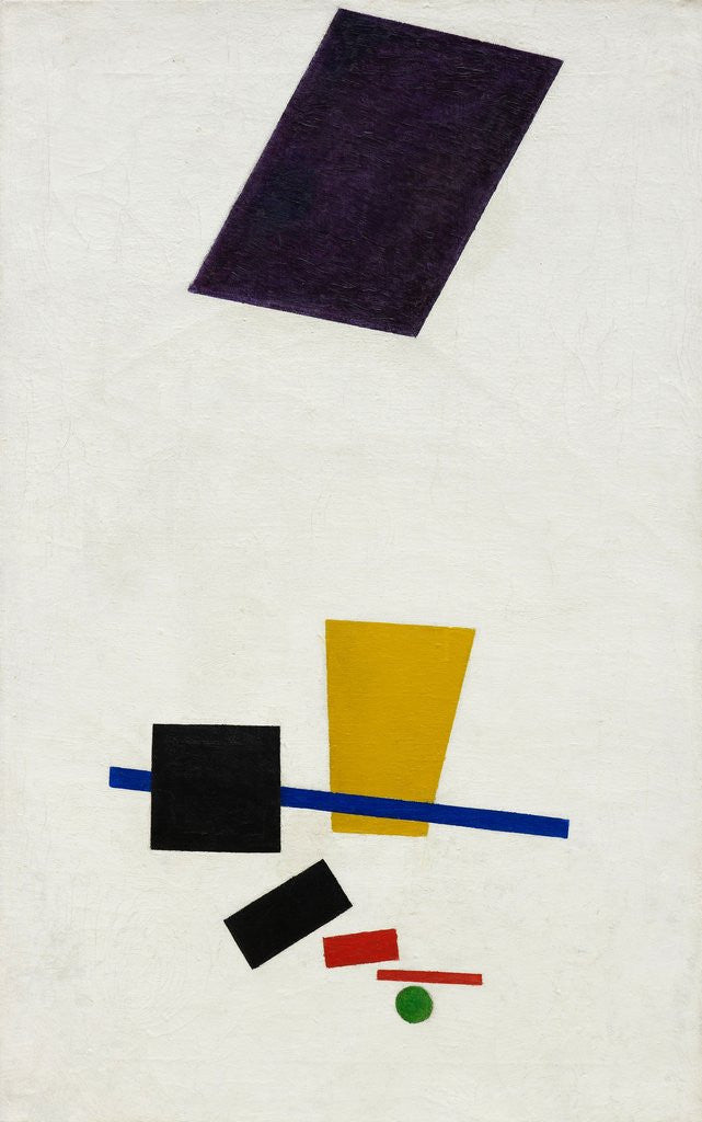 Detail of Painterly Realism of a Football Player – Color Masses in the 4th Dimension by Kazimir Malevich