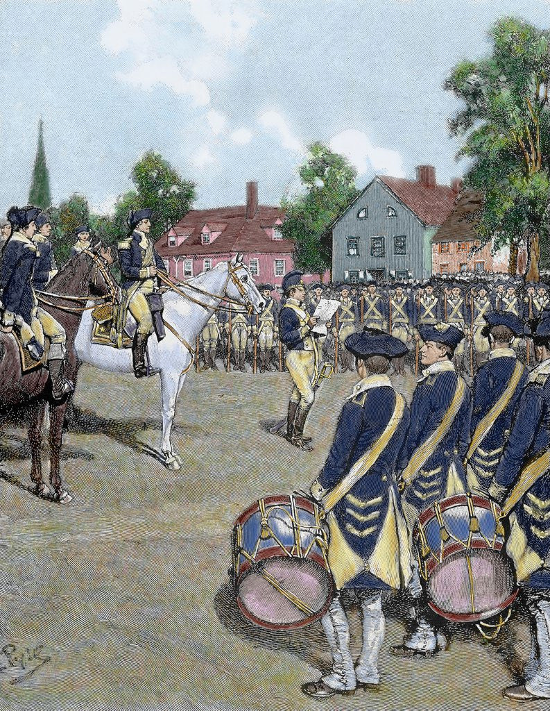 Detail of General Washington's army in New York on July 9, 1776 by Corbis