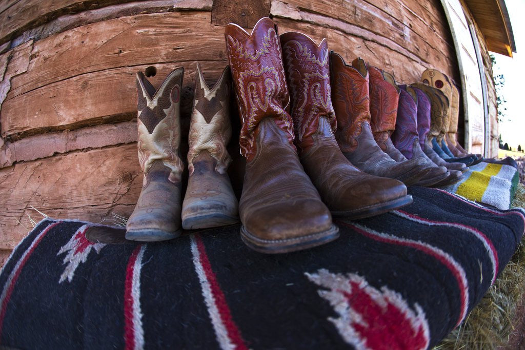 Detail of Boots and Blankets by Corbis