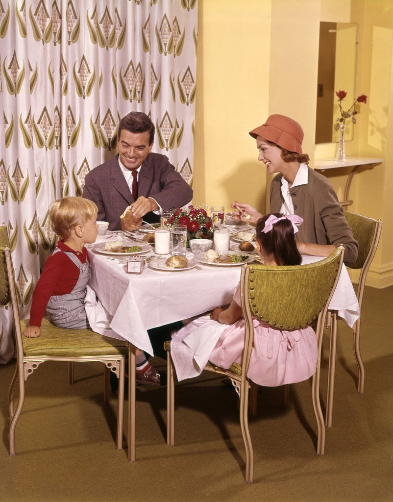 Detail of 1950s/1960s Family Dining In Restaurant by Corbis