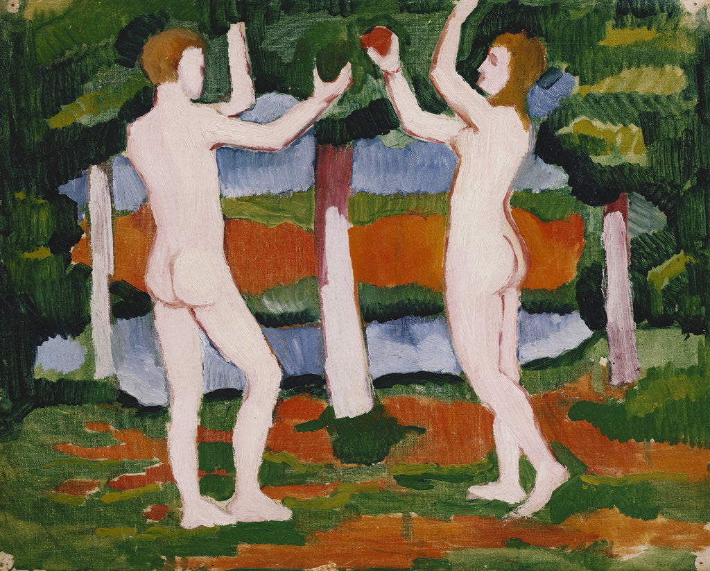 Detail of Adam and Eve by August Macke