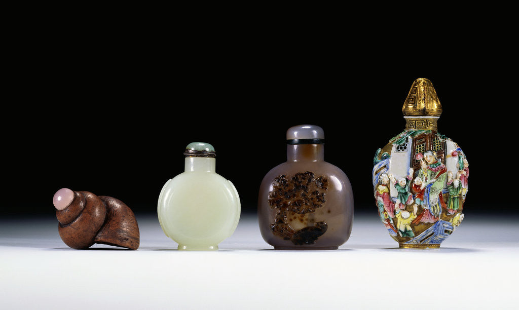 Detail of A collection of Chinese snuff bottles by Corbis