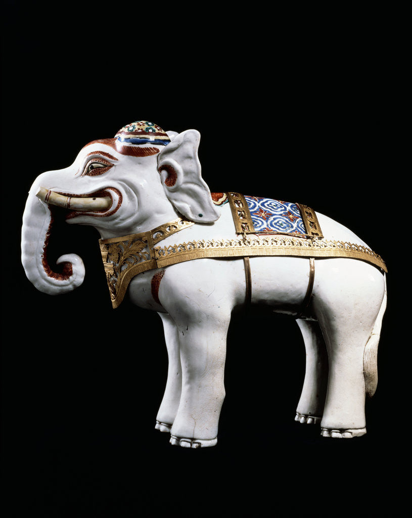 Detail of A rare and important Kakiemon model of an elephant by Corbis