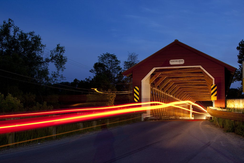Detail of Covered Bridge, Bennington, Vermont by Corbis