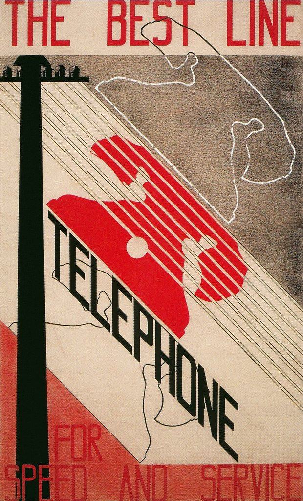 Detail of Advertisement for Best Line Telephone by Corbis