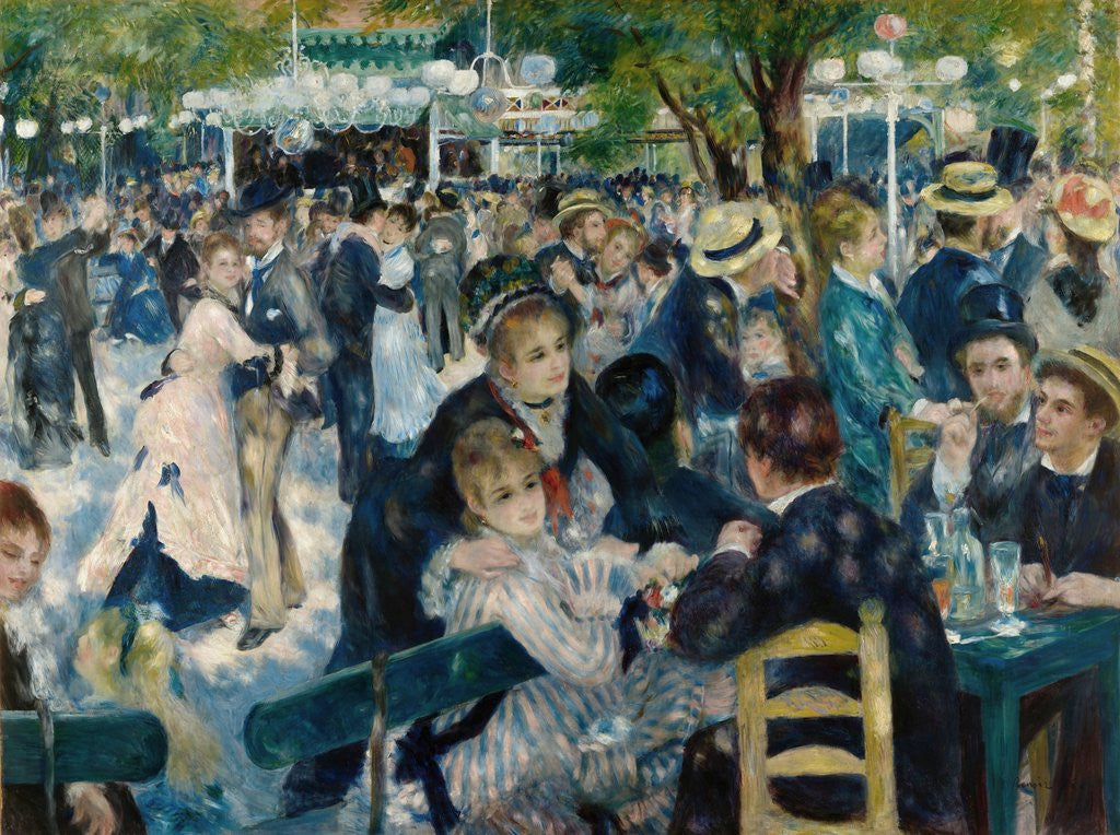 Detail of Dance at Le Moulin de la Galette by Pierre-Auguste Renoir