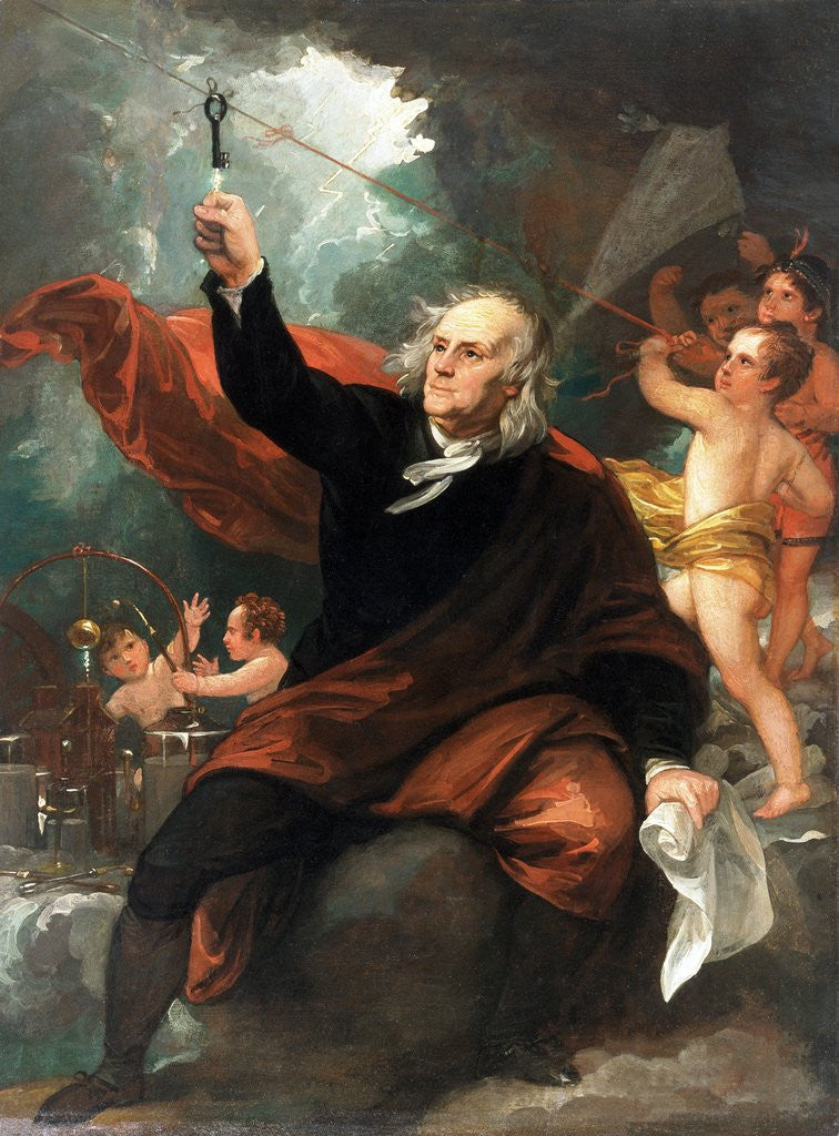 Detail of Benjamin Franklin Drawing Electricity from the Sky by Benjamin West