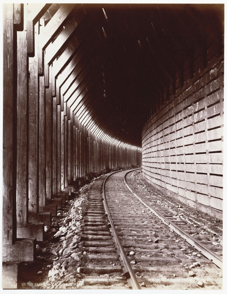 Detail of Canadian Pacific Railway by William Notman and Son by Corbis