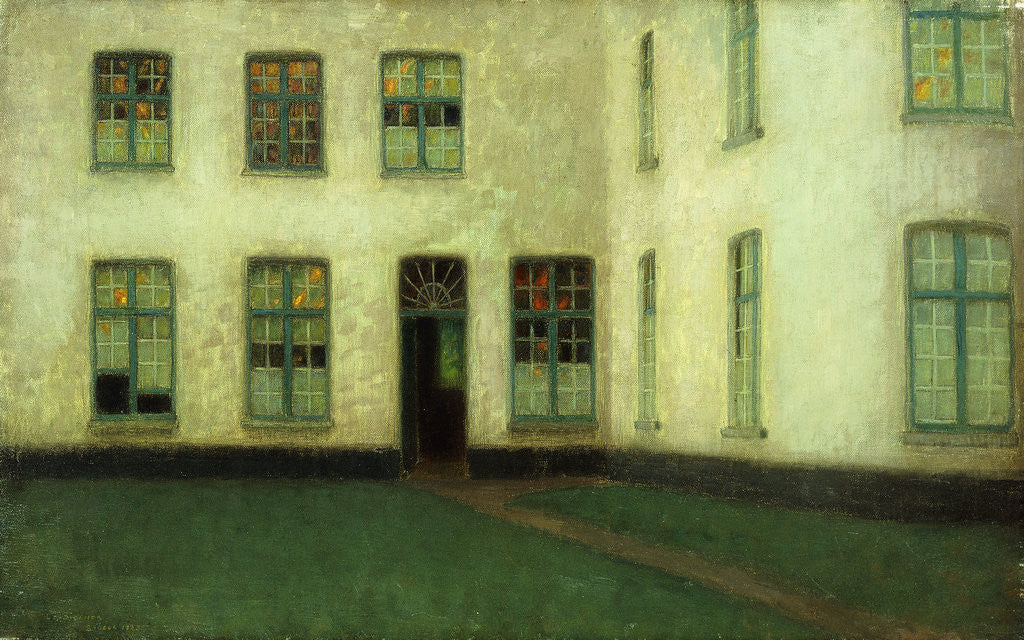 Detail of Corner of the Beguines Houses by Henri Le Sidaner