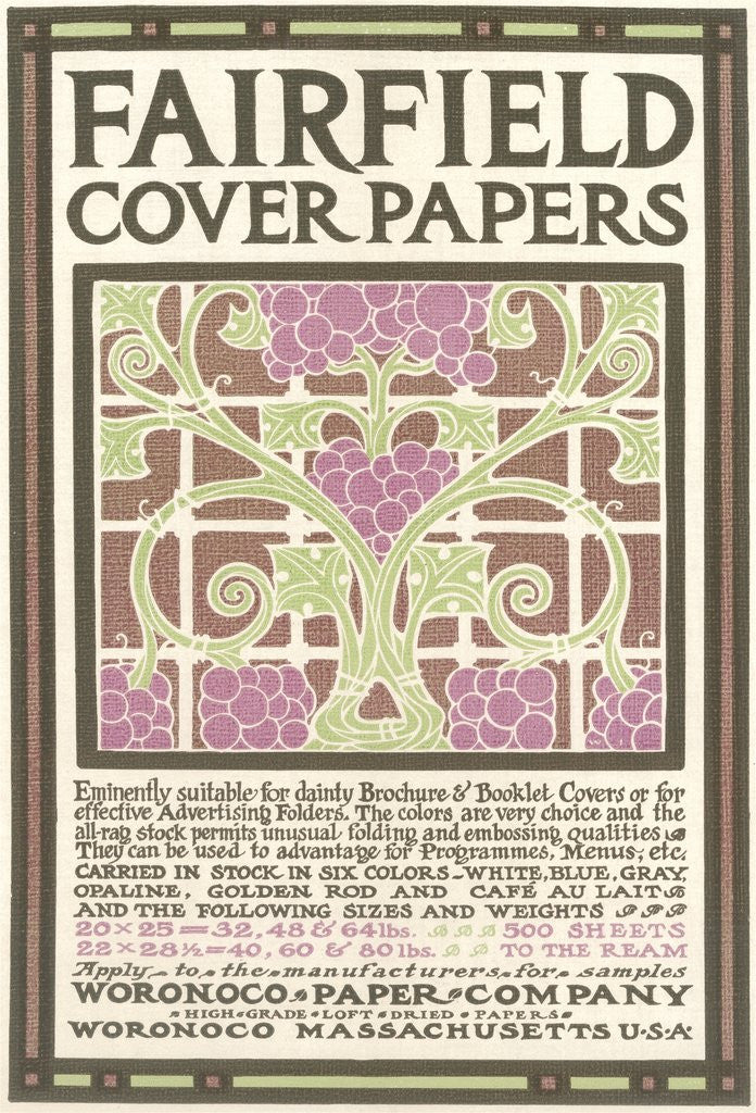 Detail of Fairfield Cover Paper, Arts & Crafts by Corbis