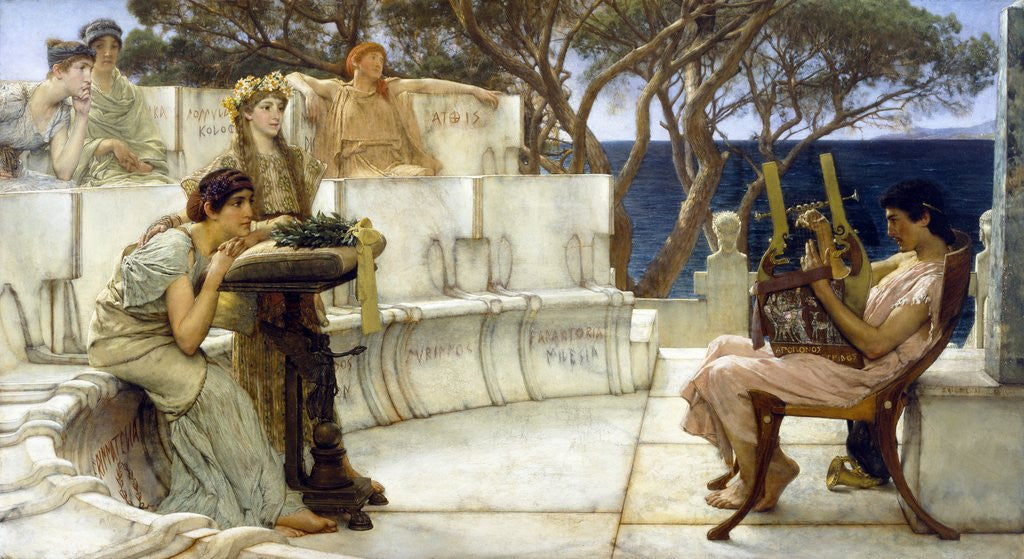 Detail of Sappho and Alcaeus by Sir Lawrence Alma-Tadema