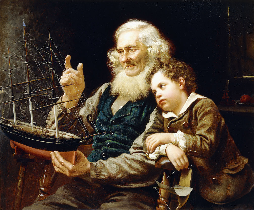Detail of A Story of the Sea by John George Brown