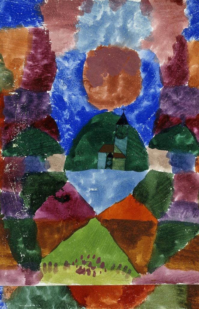 Detail of A Compressed View of Tegernsee by Paul Klee