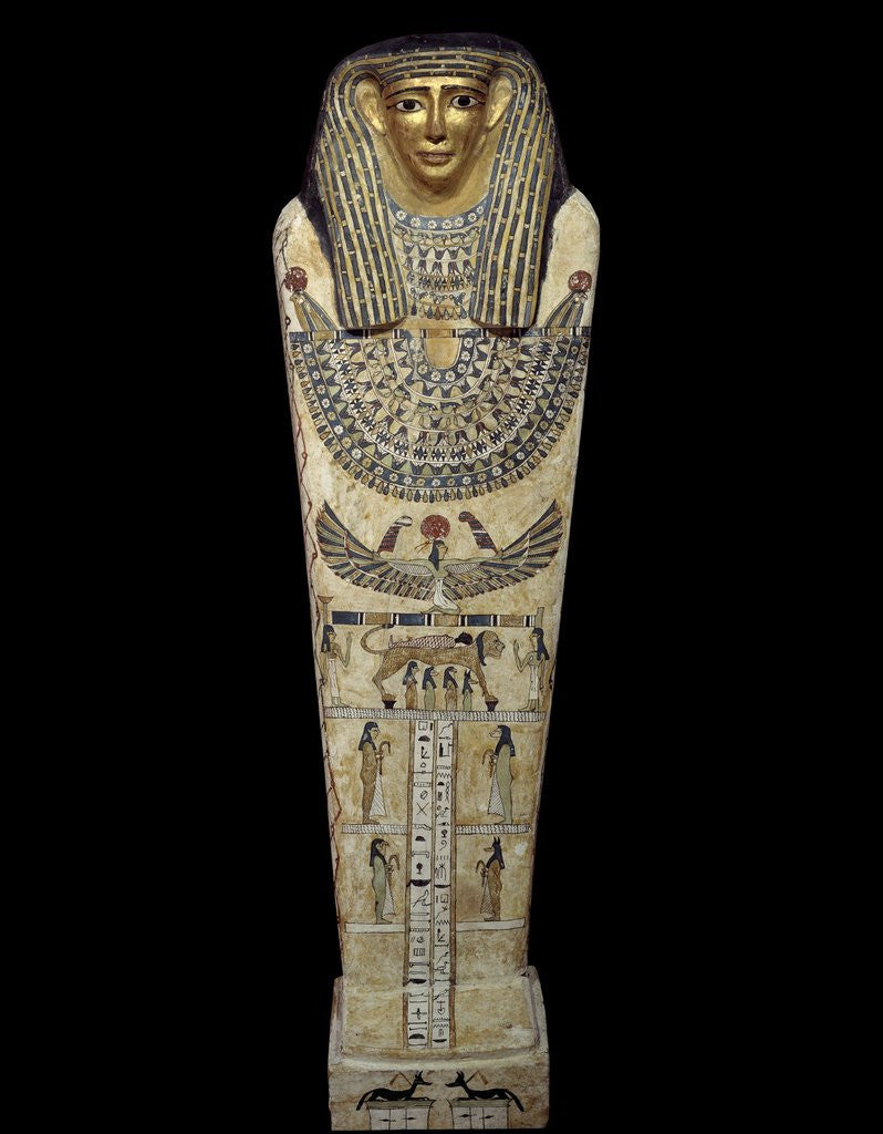 Detail of Ancient Egyptian sarcophagus of Chenptah by Corbis