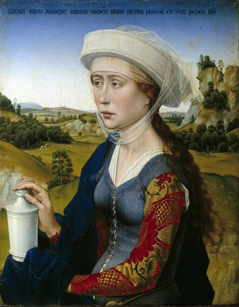 Detail of Mary Magdalene from the Triptych of the Braque Family by Rogier van der Weyden