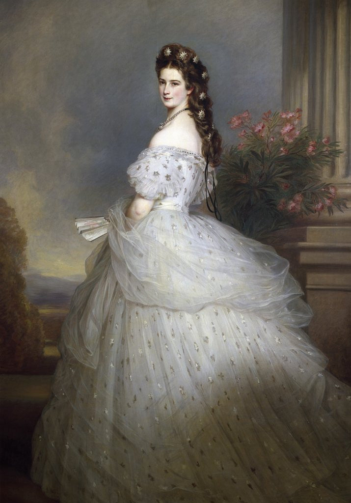 Detail of Empress Elizabeth of Austria and Bavaria by Franz Xavier Winterhalter