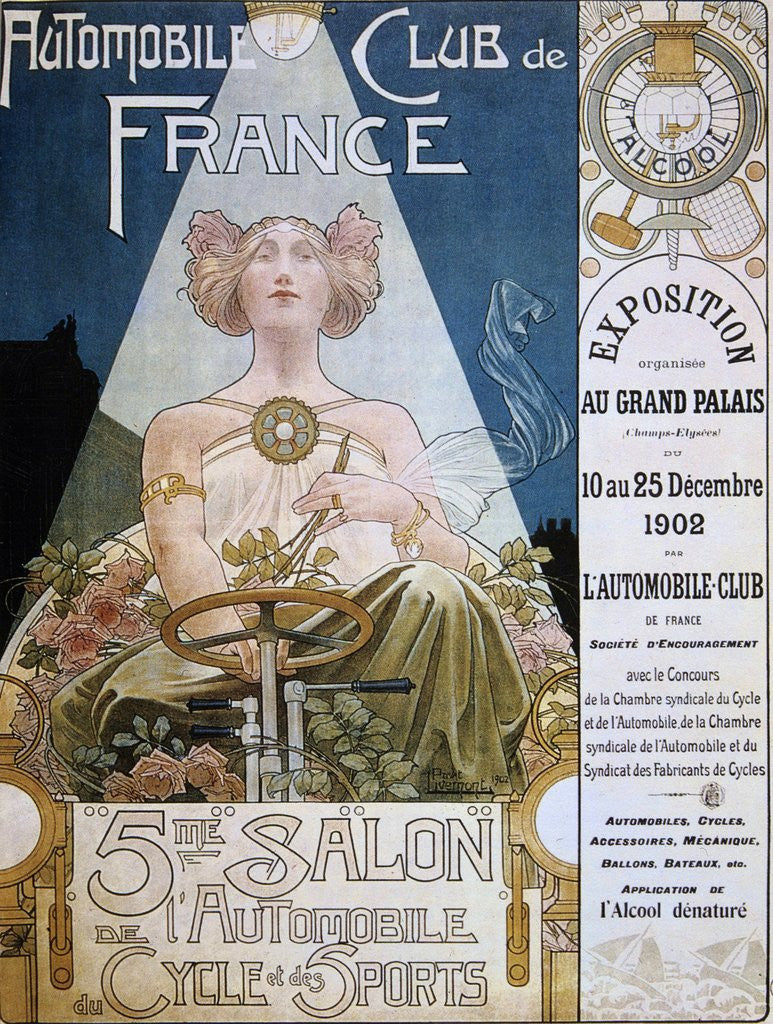 Detail of Poster of the Automobile Club de France, 1902 by Corbis