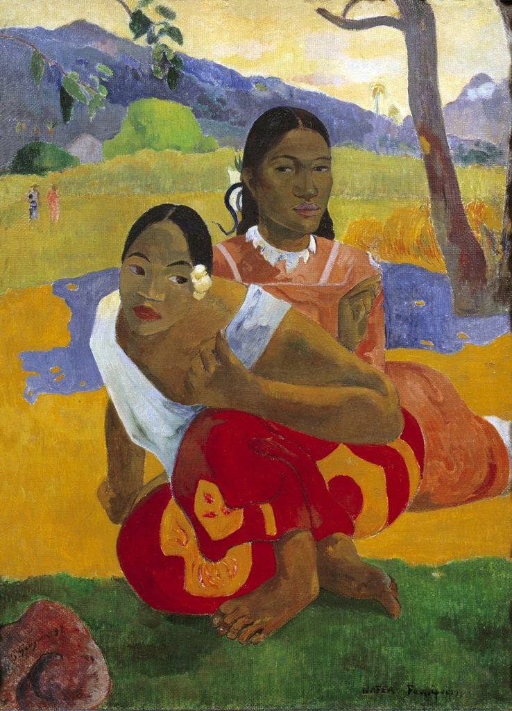Detail of When will you marry? by Paul Gauguin