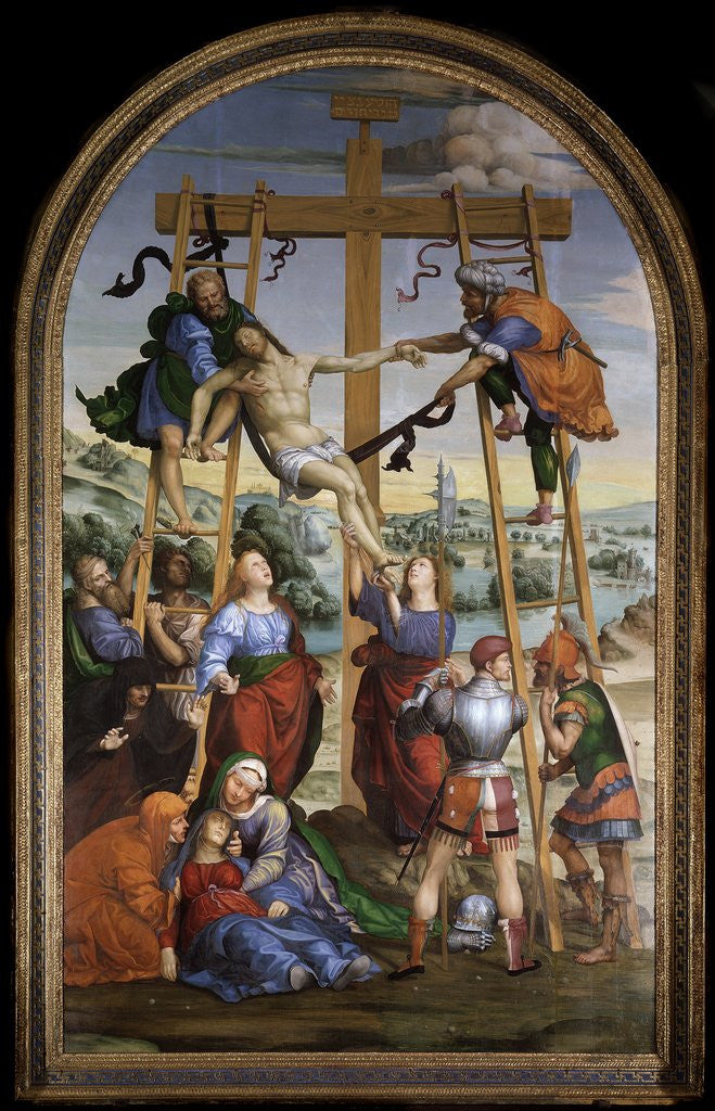 Detail of Deposition from Cross by Giovanni Antonio Bazzi Sodoma