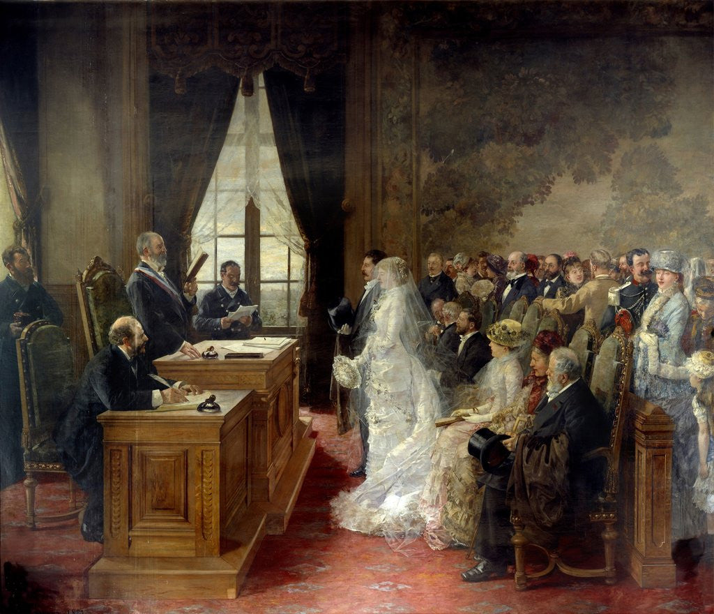 Detail of Wedding at the City Hall of Paris in 1881 by Henri Gervex