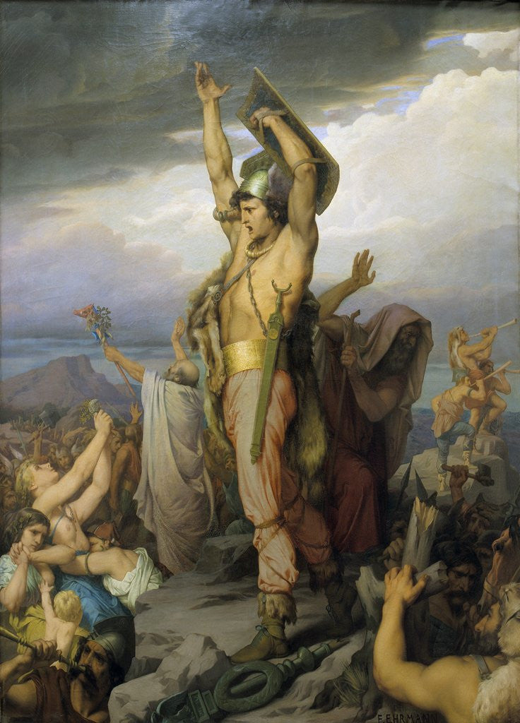 Detail of Vercingetorix by Francois Emile Ehrmann