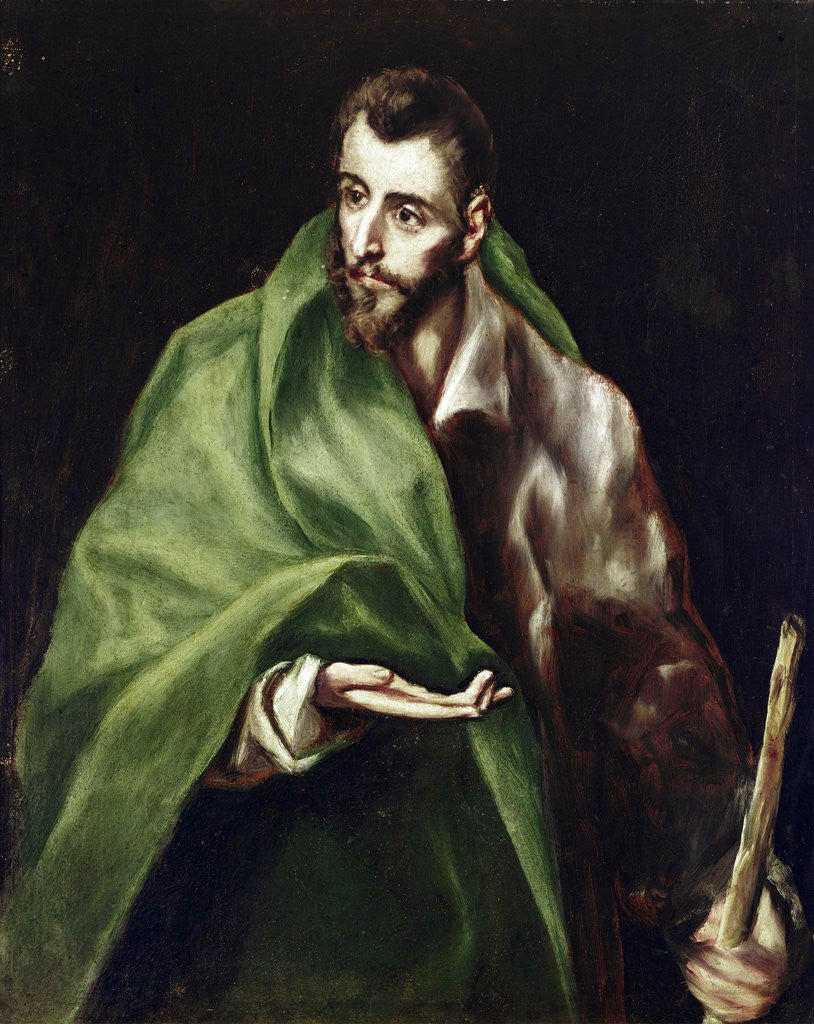 Detail of Apostle Saint James the Greater by El Greco