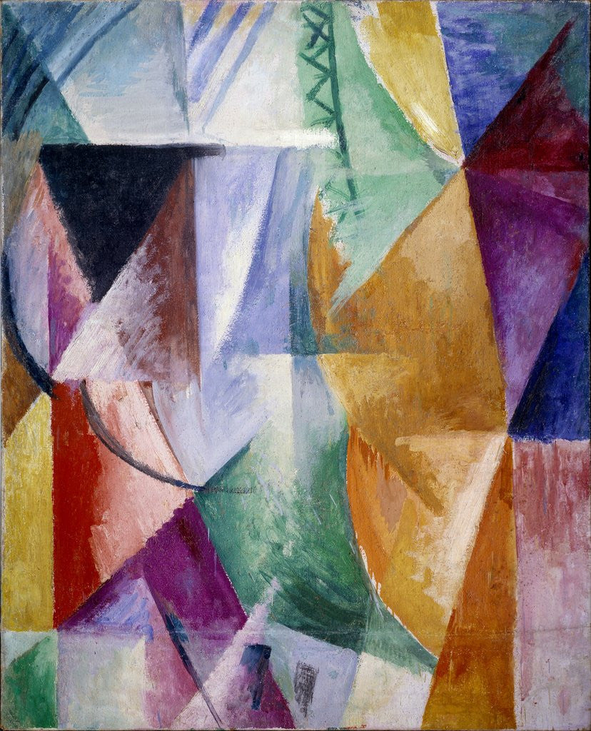 Detail of A window or study for three windows by Robert Delaunay