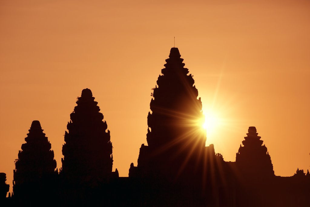 Detail of Sunrise at Angkor Wat, Siem Reap, Cambodia by Corbis