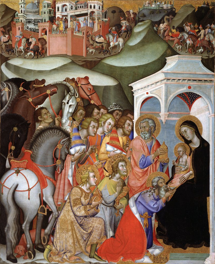Detail of The Adoration of the Magi, c.1380 by Bartolo di Fredi