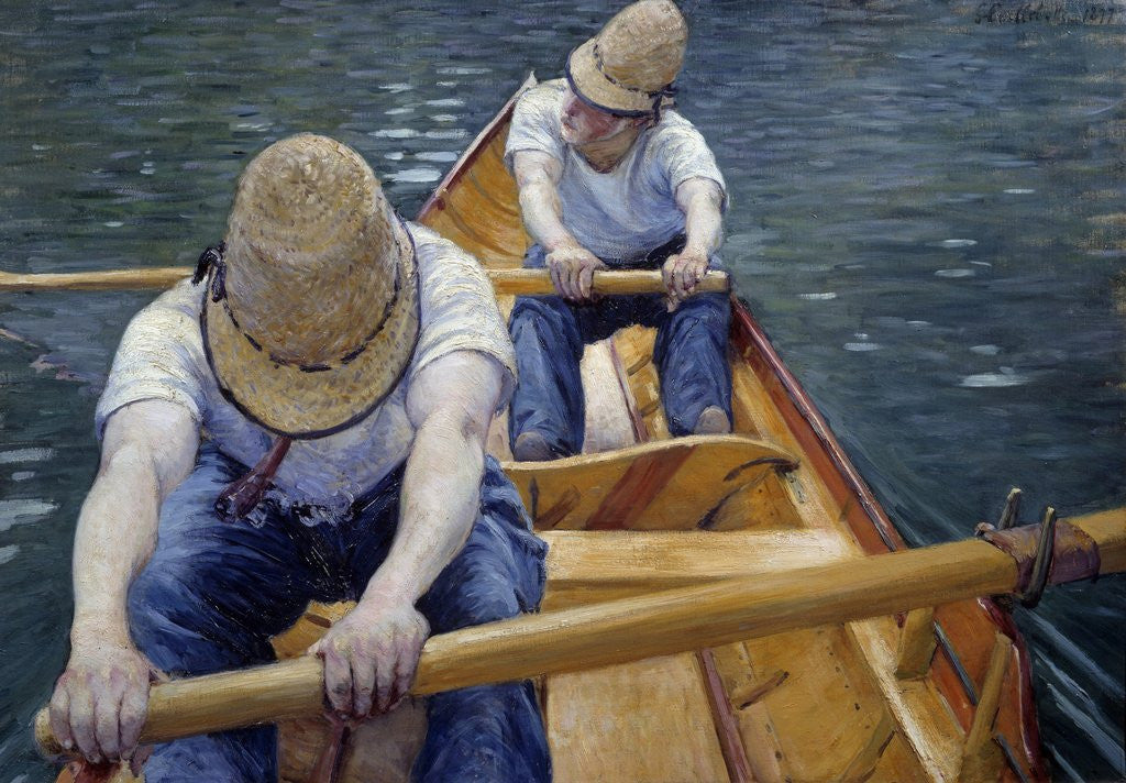 Detail of The Boatmen on the Yerres by Gustave Caillebotte