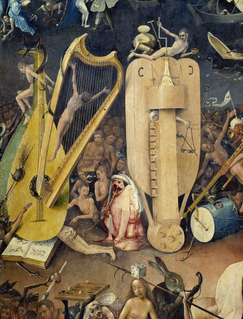 Detail Of Detail Of Hell From The Garden Of Earthly Delights By Hieronymus  Bosch