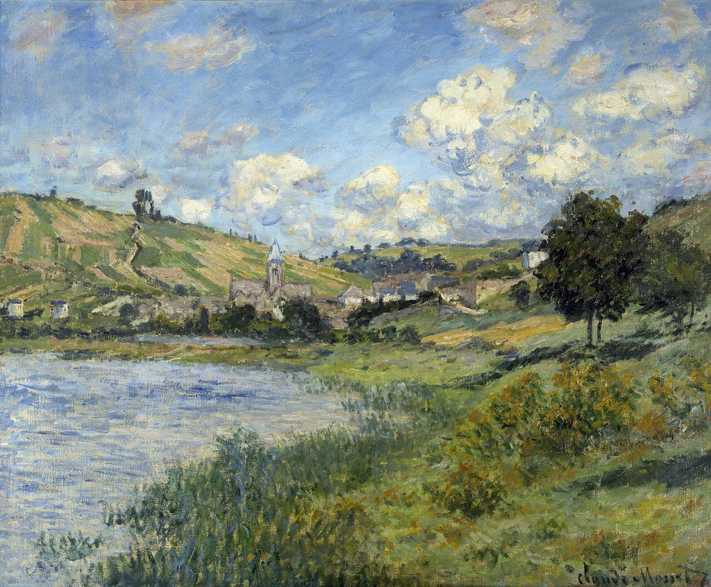 Detail of Landscape at Vetheuil by Claude Monet
