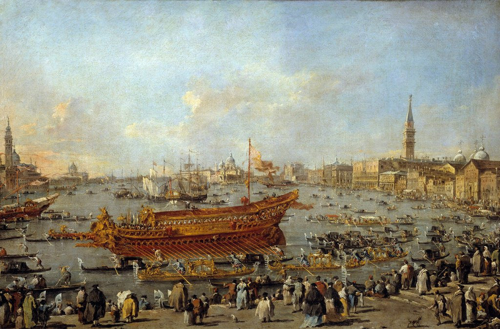 Detail of Departure of the Bucentaur to the Venice's Lido by Francesco Guardi