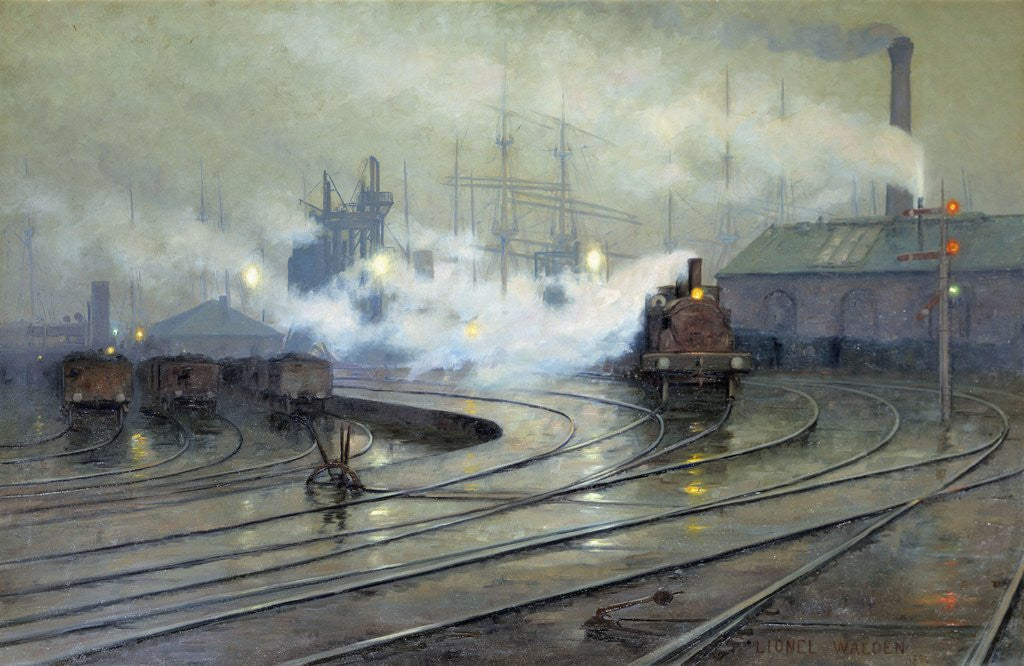 Cardiff Docks by Lionel Walden