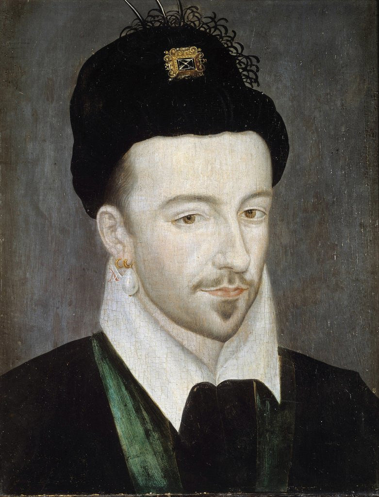 Detail of Portrait of King Henri III attributed to Jean Ducourt by Corbis