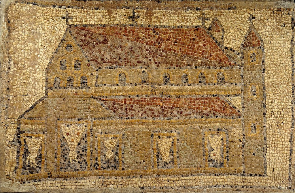 Detail of Christian basilica, mosaic by Corbis