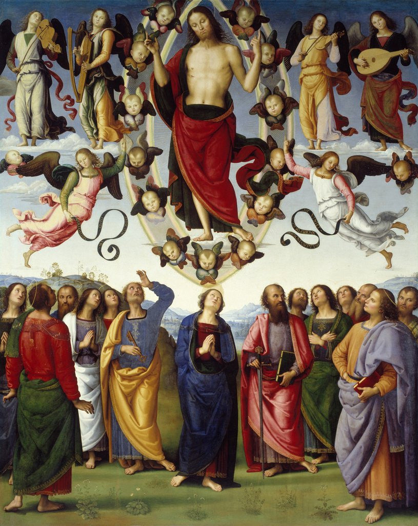 Detail of Ascension of Christ by Perugino