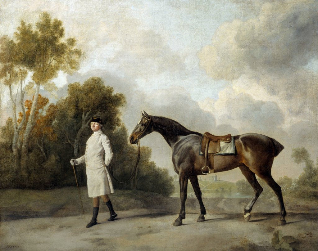 Detail of Portrait of Assheton and his mare Maria by George Stubbs