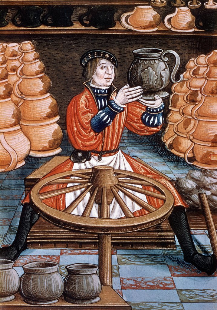 Detail of The potter by Corbis