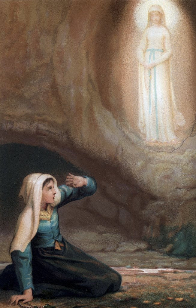 Detail of Bernadette Soubirous, a 14 year old girl, had visions of the Virgin Mary in 1858 by Corbis