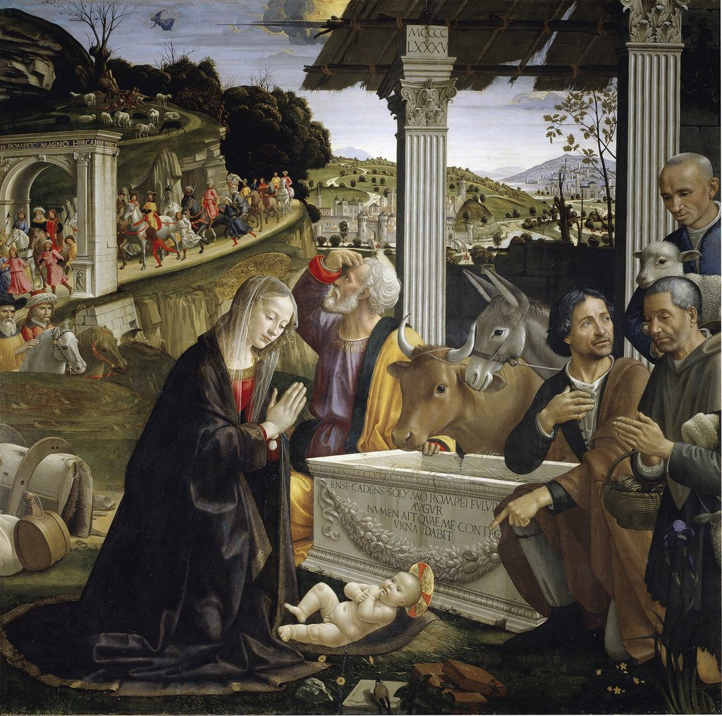Detail of Adoration of the Shepherds by Domenico Ghirlandaio