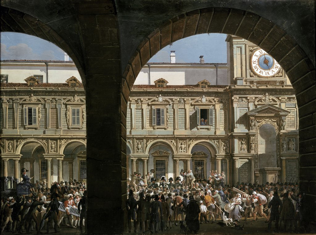 Detail of Domenico Pino speaks to the crowd in Milan, 1814 by Corbis